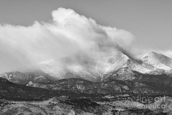 Photograph - Colorado Twin Peaks Winter Weather View Bw by James BO Insogna