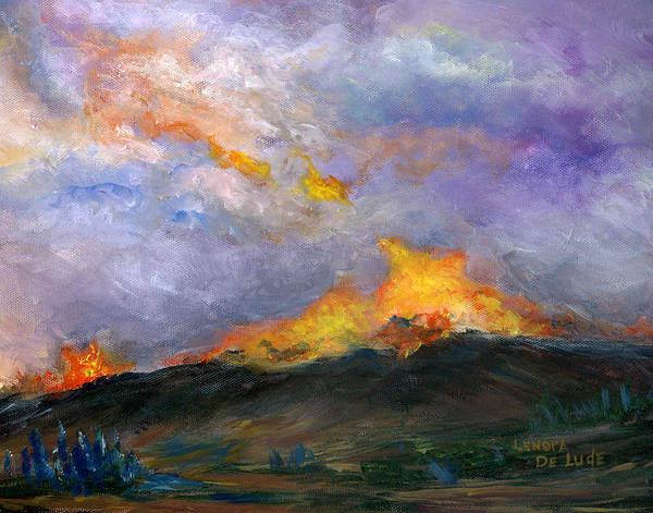Colorado Wild Fire Art Print