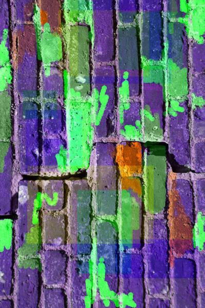 Colored Brick And Mortar 4 Art Print