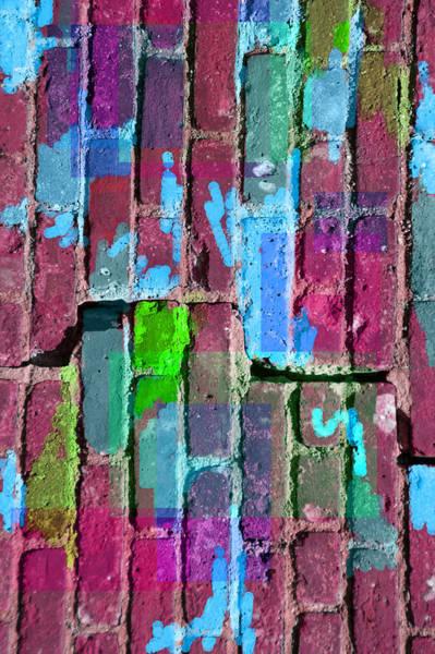 Digital Art - Colored Brick And Mortar 7  by Lynda Lehmann