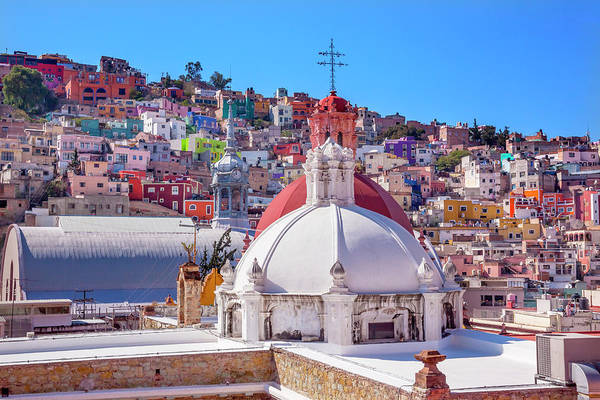 Wall Art - Photograph - Colored Houses Iglesia De San Roque San by William Perry