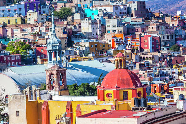Wall Art - Photograph - Colored Houses Iglesia De San Roque by William Perry