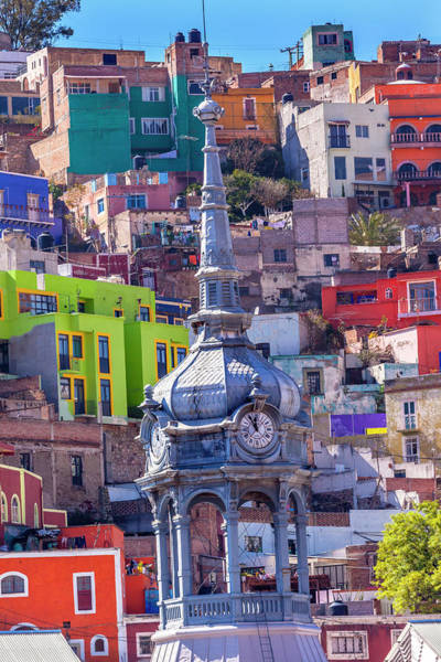 Wall Art - Photograph - Colored Houses, Market Mercado Hidalgo by William Perry