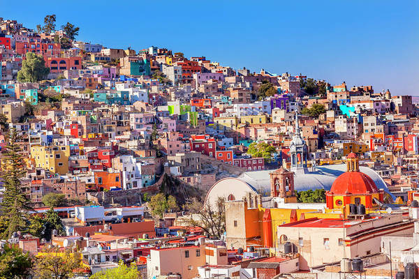Wall Art - Photograph - Colored Houses, San Roque Church by William Perry