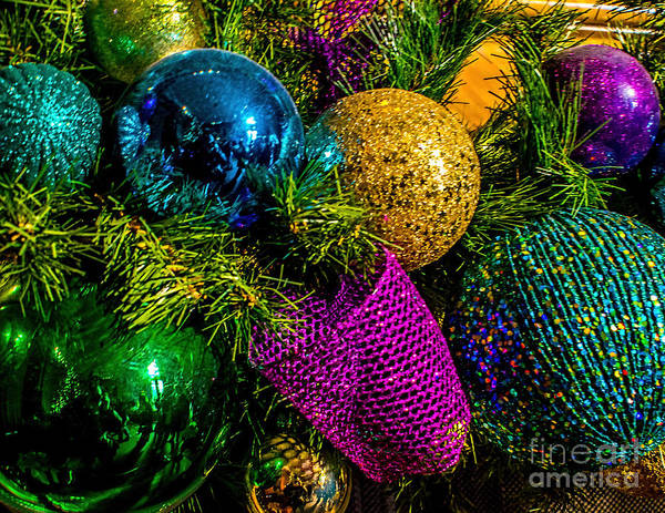Photograph - Colored Ornaments by Nick Zelinsky