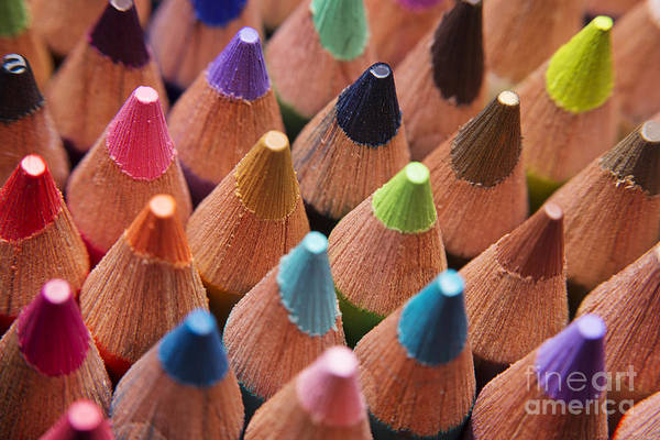 Photograph - Colored Pencils  3 by Art Whitton
