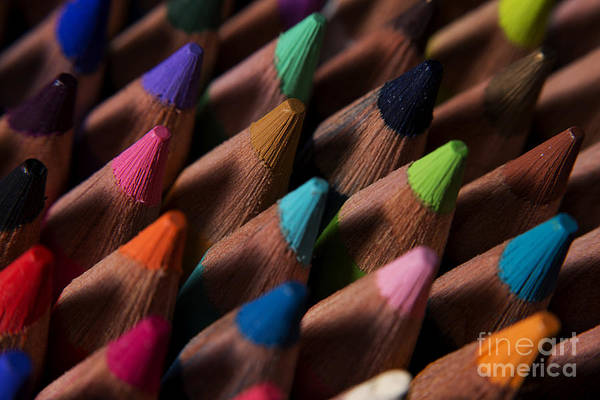 Photograph - Colored Pencils 5 by Art Whitton