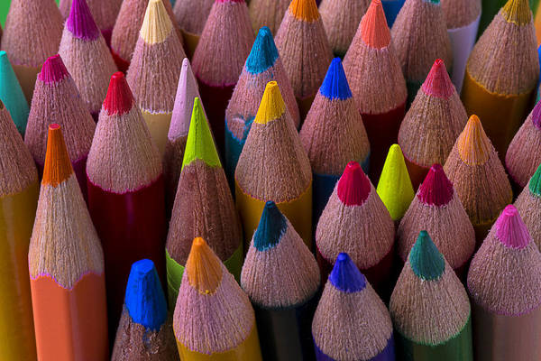Pencil Drawing Photograph - Colored Pencils Close Up by Garry Gay