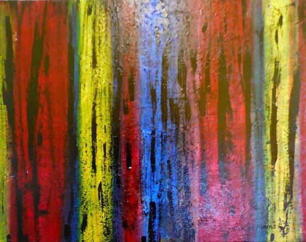 Don Williams Painting - Colored Timbers   Abstract by Don Williams