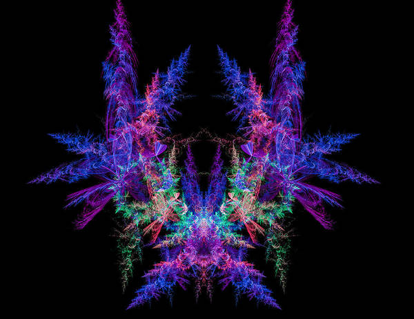 Digital Art - Colored Wings Abstract Fractal Art by Matthias Hauser