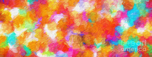 101 Digital Art - Colorful Abstract 101 Panorama by Andee Design