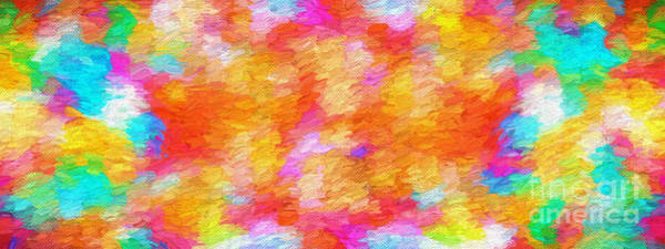 Digital Art - Colorful Abstract 102 Panorama by Andee Design