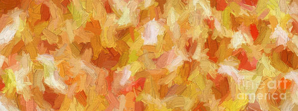 Digital Art - Colorful Abstract 107 Panorama by Andee Design