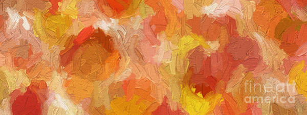 Digital Art - Colorful Abstract 110 Panorama by Andee Design