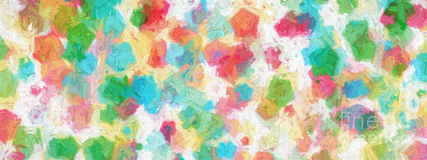 Digital Art - Colorful Abstract 113 Panorama by Andee Design