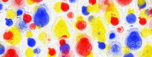 Digital Art - Colorful Abstract 124 Panorama by Andee Design