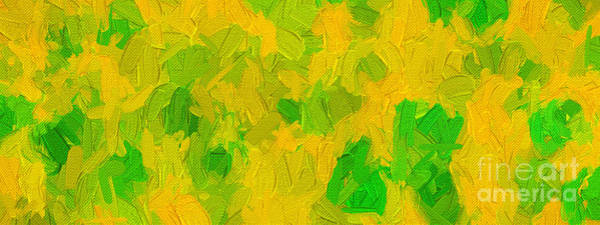Digital Art - Colorful Abstract 125 Panorama by Andee Design