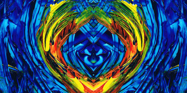 Painting - Colorful Abstract Art - Purrfection - By Sharon Cummings by Sharon Cummings