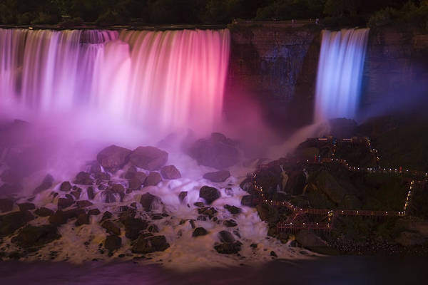 Photograph - Colorful American Falls by Adam Romanowicz