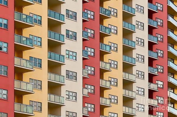 Photograph - Colorful Apartment Building - Painterly by Les Palenik