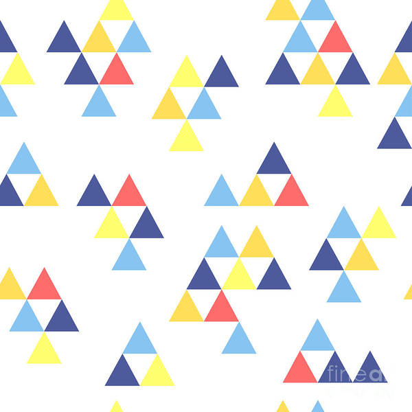 Triangle Digital Art - Colorful Background. Background With by Anastasiya Stalmahova