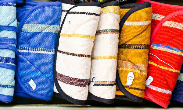 Wallet Wall Art - Photograph - Colorful Bags by Tom Gowanlock