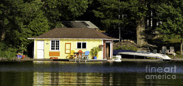 Photograph - Colorful Boathouse by Les Palenik
