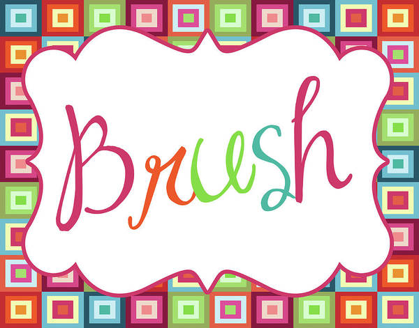 Bath Room Wall Art - Painting - Colorful Brush by Tamara Robinson