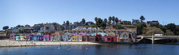 Monterey Bay Photograph - Colorful Buildings And Beach by Panoramic Images