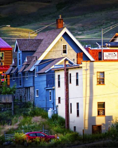 Photograph - Colorful Buildings At Evening by Randall Nyhof