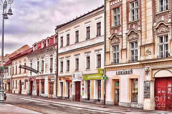 Photograph - Colorful Buildings - In Banska Bystrica In Slovakia by Les Palenik