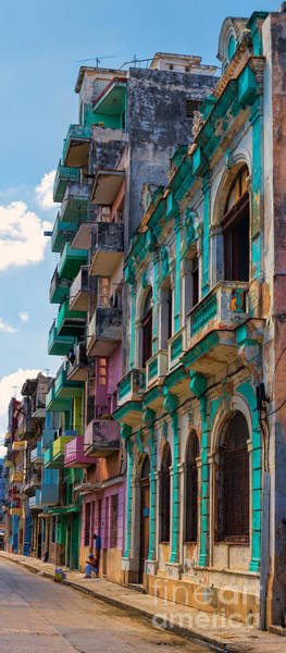 Photograph - Colorful Buildings In Havana by Les Palenik