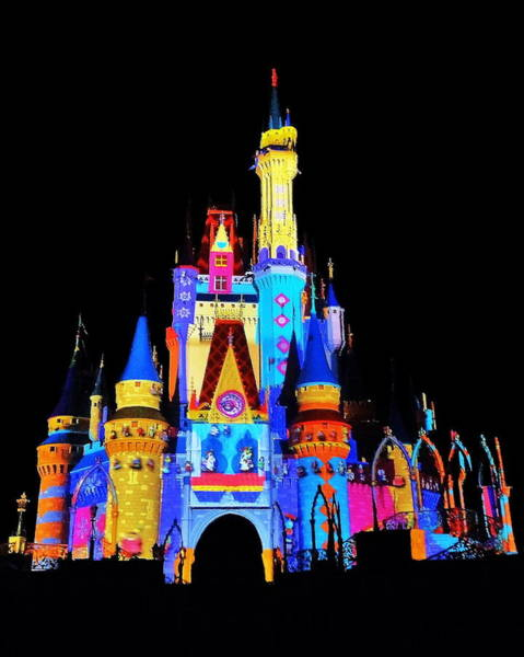 Magic Kingdom Photograph - Colorful Castle by Benjamin Yeager