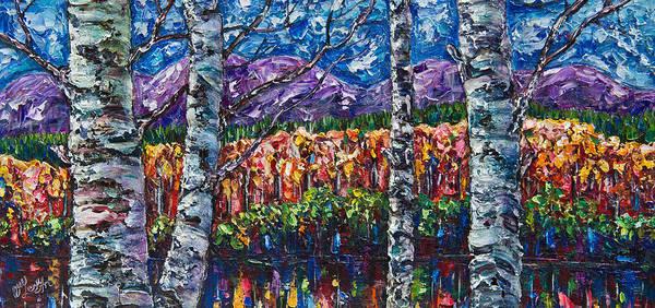 Painting - Colorful Colorado Impasto by OLena Art - Lena Owens