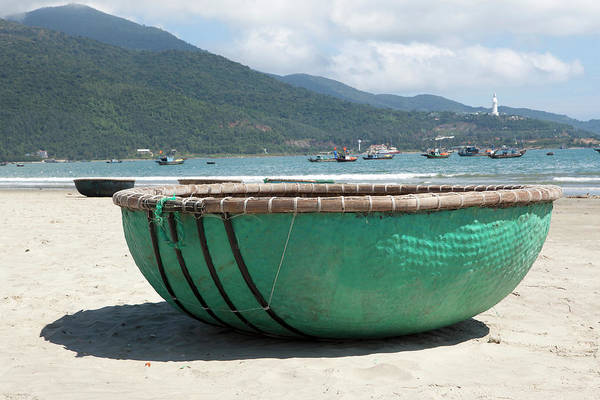 Fishing Boat Photograph - Colorful Coracle Fishing Boat On The by Cormac Mccreesh