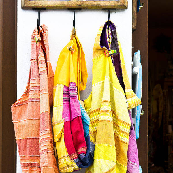 Buy Photograph - Colorful Cotton Bags by Tom Gowanlock