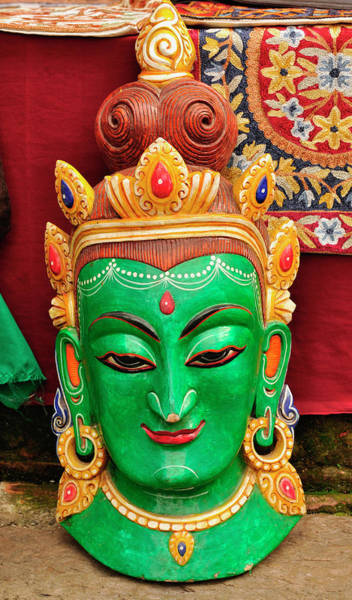 Demon Photograph - Colorful Cultural Masks Made Of Papier by Jaina Mishra
