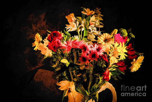 Photograph - Colorful Cut Flowers - V3 by Les Palenik