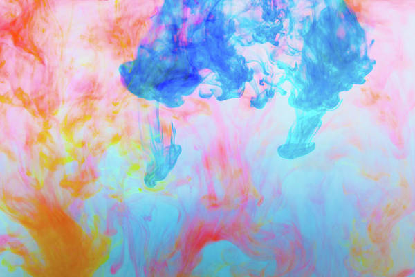 Mixing Photograph - Colorful Dyes In Water by Diane Macdonald