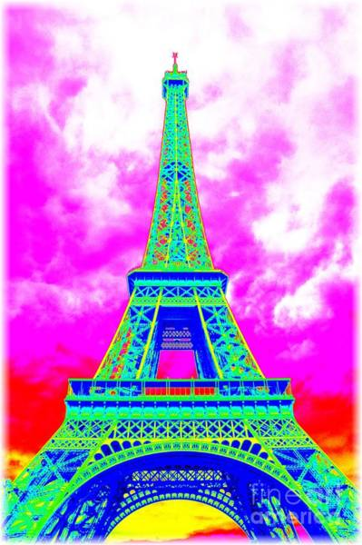 Photograph - Colorful Eiffel Twer by Carol Groenen