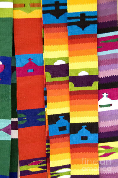 Photograph - Colorful Fabrics In Antigua Guatemala by Bill Bachmann