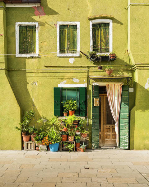 Plaster Photograph - Colorful Facade – Burano, Italy by Corystevens