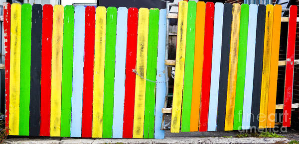 Photograph - Colorful Fence by Ricky L Jones