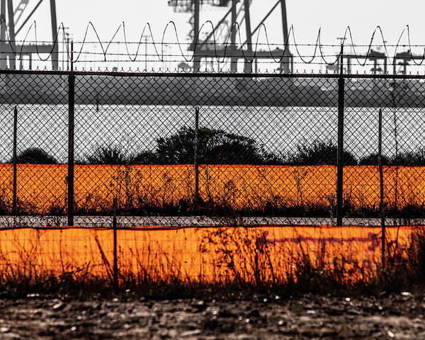 Chain Link Photograph - Colorful Fence by Ron Koeberer
