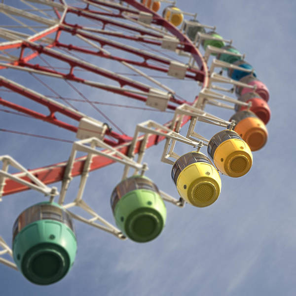 Photograph - Colorful Ferries Wheel In Tokyo by For Ninety One Days