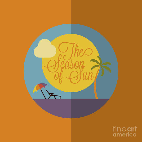 Wall Art - Digital Art - Colorful Flat Summer Holiday And Travel by Hunotika