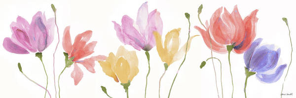 Wall Art - Painting - Colorful Floral Sway Panel by Lanie Loreth