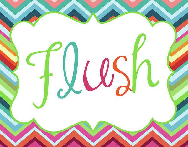 Bath Room Wall Art - Painting - Colorful Flush by Tamara Robinson