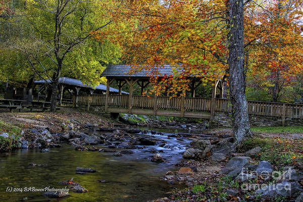 Photograph - Colorful Footbridge Crossing by Barbara Bowen