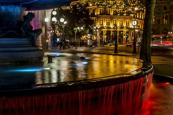 Photograph - Colorful Fountain In The Streets Of Paris. by Sven Brogren